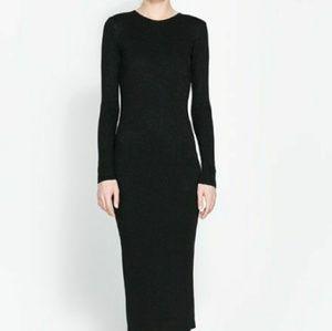 NWT ZARA Super Long knitt  sweater dress L